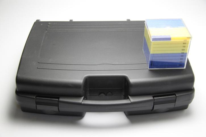 Tausenderwürfelsatz mit 10 Tausenderwürfel, im Koffer
