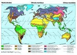 Lehrtafel Klimazonen der Erde, Format BxH 120x80  cm