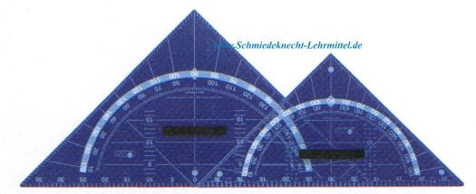 Geodreieck, FOCON, mit magnethaftenden Haftflächen, 80cm, Plexiglas
