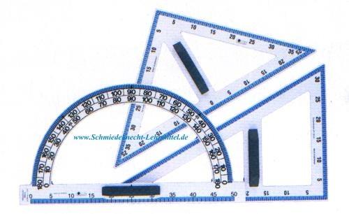 Winkelmesser, FOCON, mit Magnetsatz, 180°, 52 cm, Polystyrol, weiß