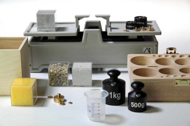 Gewichte - Vergleichssatz mit Tafelwaage