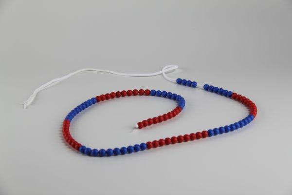 100er Rechenkette blau/rot, im Zahlenraum bis 100