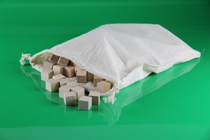 SOMA-Würfel, 2x2x2 cm, 150 Stück, natur, aus RE-WOOD®