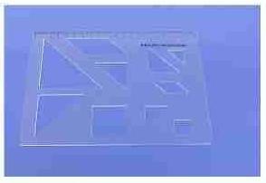 Tangramsatz, Zeichenschablone, 210 x 150 x 1 mm