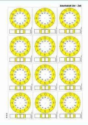 Uhren - Arbeitsblätter