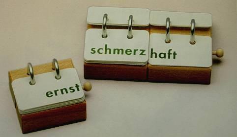 Wortbaufix-Adjektive, Vorsilben und Nachsilben, 3 Anbauklötze
