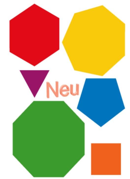 Demonstrationssatz 6 Geometrische Flächen für die Tafel