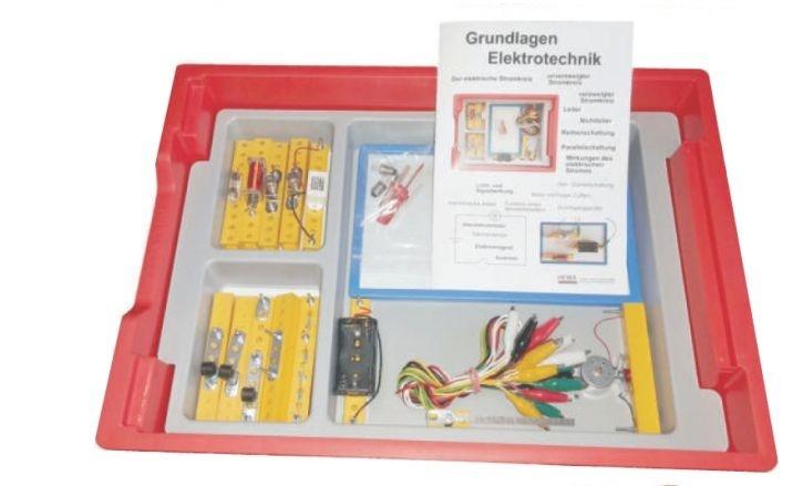 Elektrobaukasten 1, einfache Grundlagen, im Kunststoffkasten