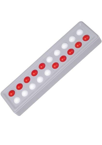 Abaco 20 Modell A, rot/weiß, 5/5 Kugeln versetzt