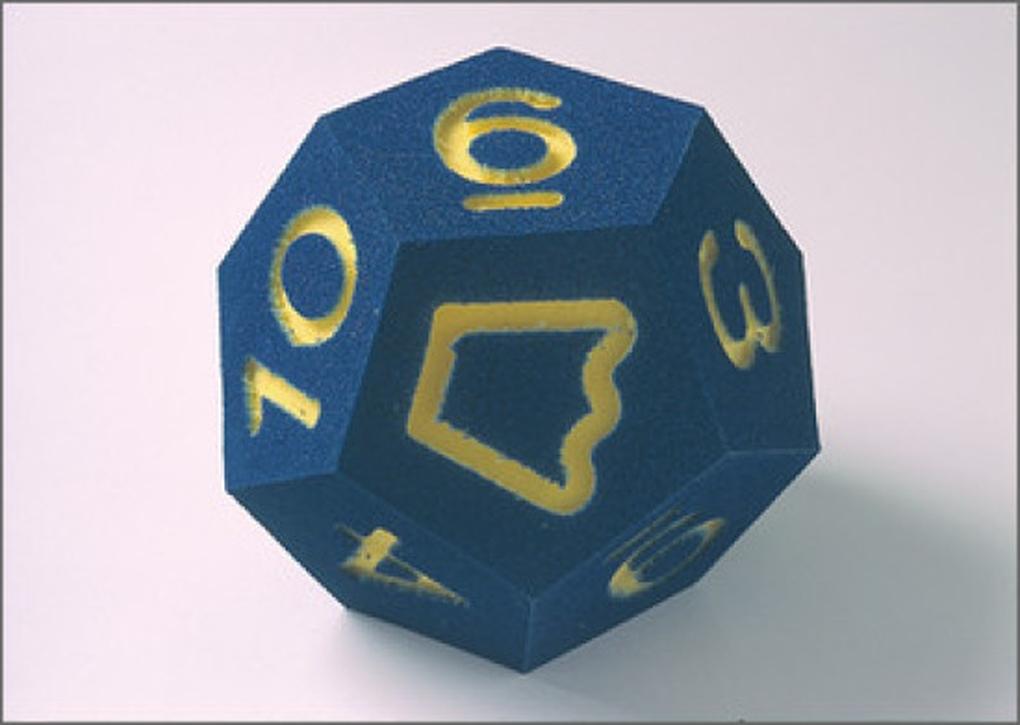 Riesen-Schulwürfel, Farbe blau