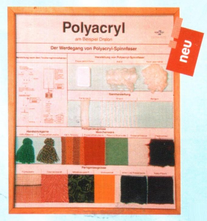 Technologie Schaukasten Fasern: Polyacryl