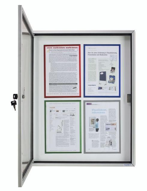 Schaukasten CC für Außen, mit Acryl-Sicherheitsglas, für 12 DIN A4