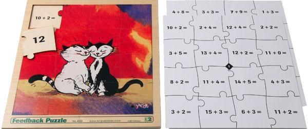 Feedback Puzzles: Addition bis 20