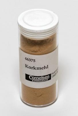 Korkmehl,  Dose mit Inhalt 10 g.