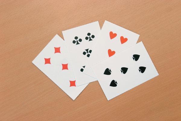 PerfoDidac Spielkarten ohne Ziffern