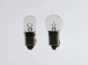 Glühlampen, E 10 / 4 V / 1,0 A, klar, Satz (10 Stück)