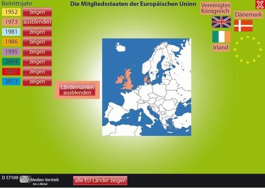 Interaktives Tafelbild: Die Europäische Union