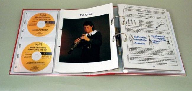 """Transparentmappe """"Musikinstrumente in Wort, Bild und Ton"""""""