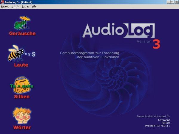 AudioLog3 Einzelplatzversion, Erstlizenz mit USB-Stick