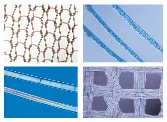 Mikropräparate in Serie -Textilfasern und Gewebe, 25 Präparate