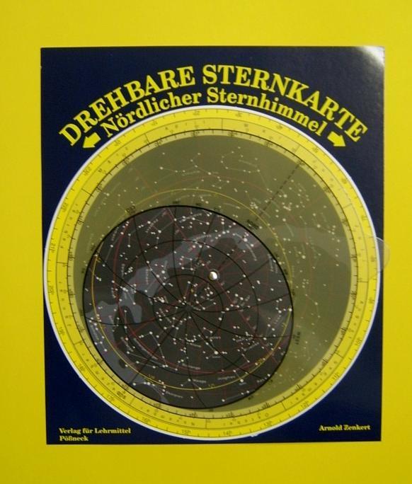 Drehbare Sternkarte Nördlicher Sternhimmel, ohne Planetzeiger