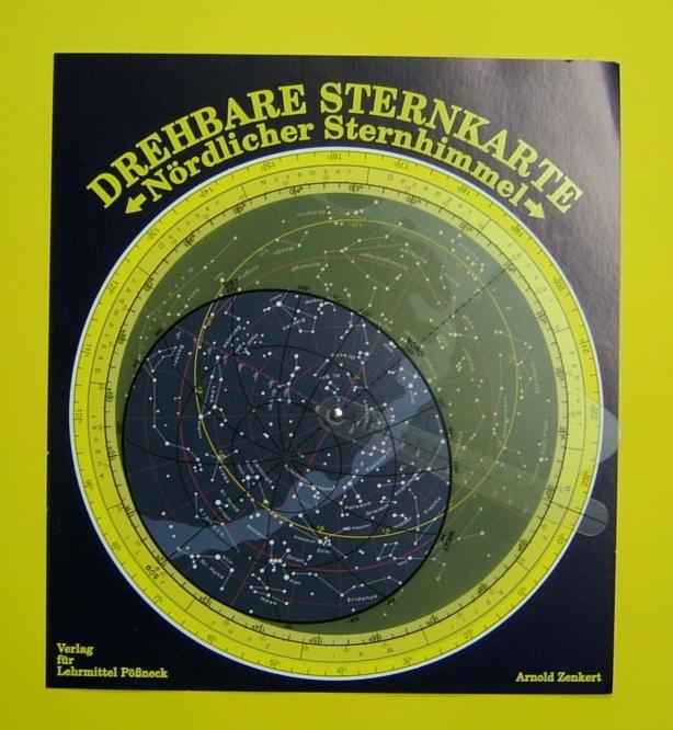 Große drehbare Sternkarte mit Planetzeiger, Ø26 cm