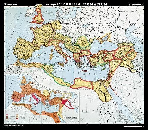 Haack Wandkarte Imperium Romanum – lateinisch