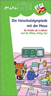 mini-Lük Heft Vorschulolympiade Maus 2