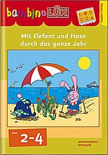 bambinoLük-Heft Mit Elefant und Hase durch das ganze Jahr