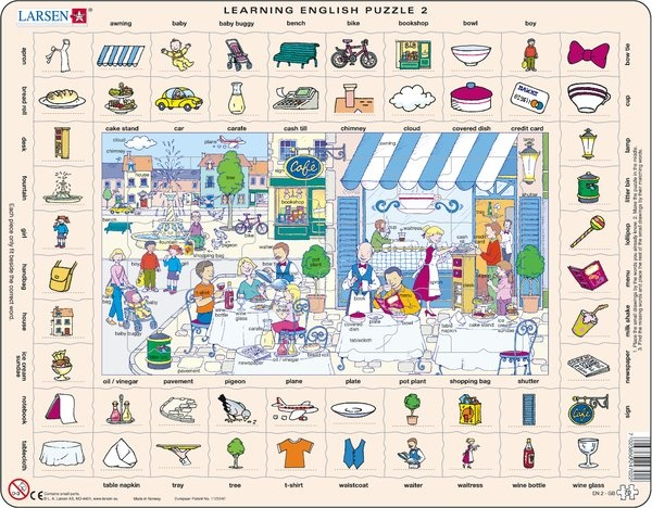 Puzzle - Learning English Puzzle 2, Format 36,5x28,5 cm, Teile 70