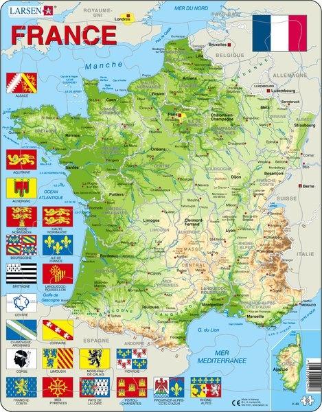 Puzzle - France, französisch, physisch, Format 36,5x28,5 cm, Tei