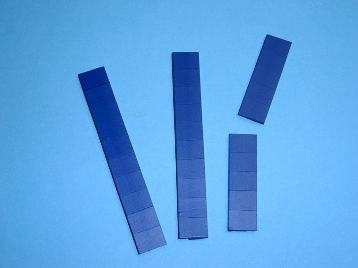 Satz Kippmagnete für Zusatzpläne, dunkelblau