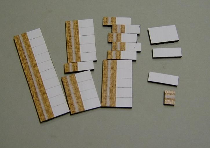 Satz Kippmagnete für Stundenplan, beige meliert mit Streifen / weiß