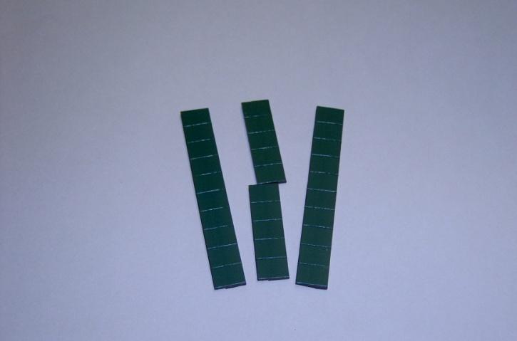 Satz Kippmagnete für Zusatzpläne, dunkelgrün