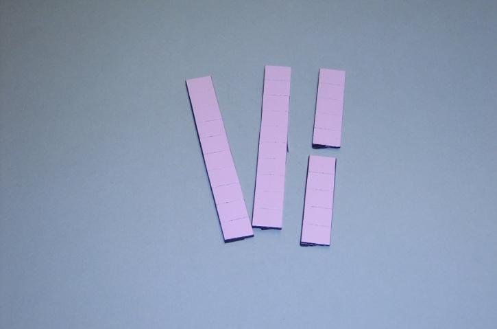 Satz Kippmagnete für Zusatzpläne, rosa