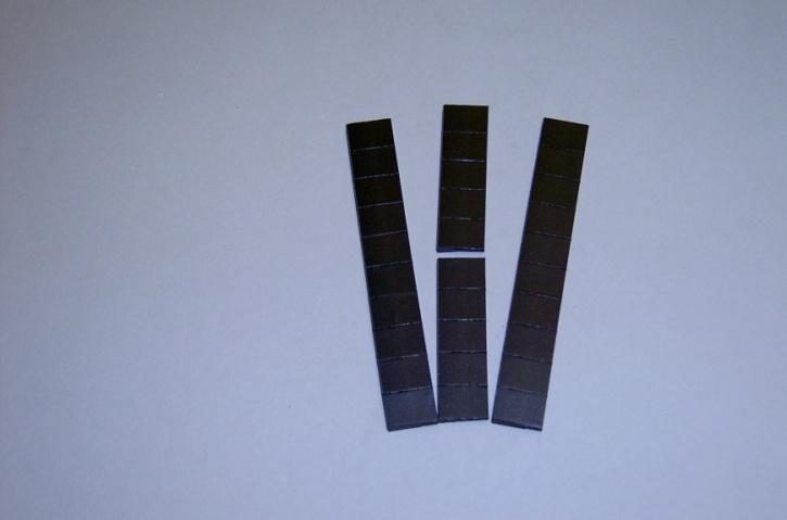 Satz Kippmagnete für Zusatzpläne, schwarz