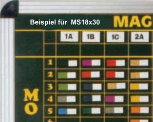 Kopfzeilenmagnet zur Kennzeichnung der Klasse 18x30mm, dunkelblau mit weißem Streifen