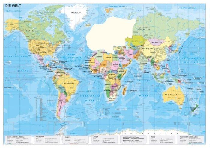 Die Welt, politisch, magnetisches XXL-Puzzle