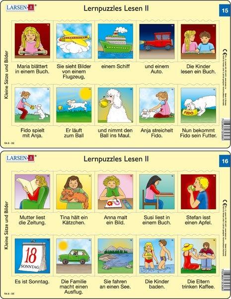Puzzle - Lernpuzzles Lesen II (15 und 16)