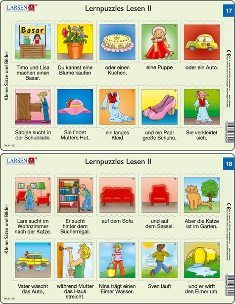 Puzzle - Lernpuzzles Lesen II (17und 18)