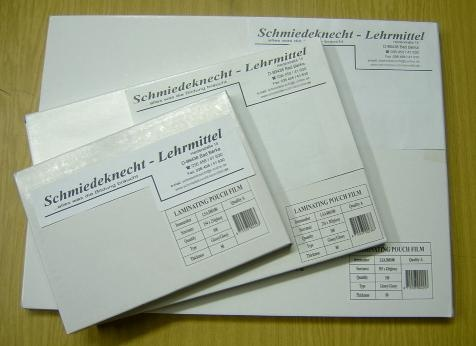 Laminiertaschen / Laminierfolien  mit Abheftrand (Filex), mit Loc
