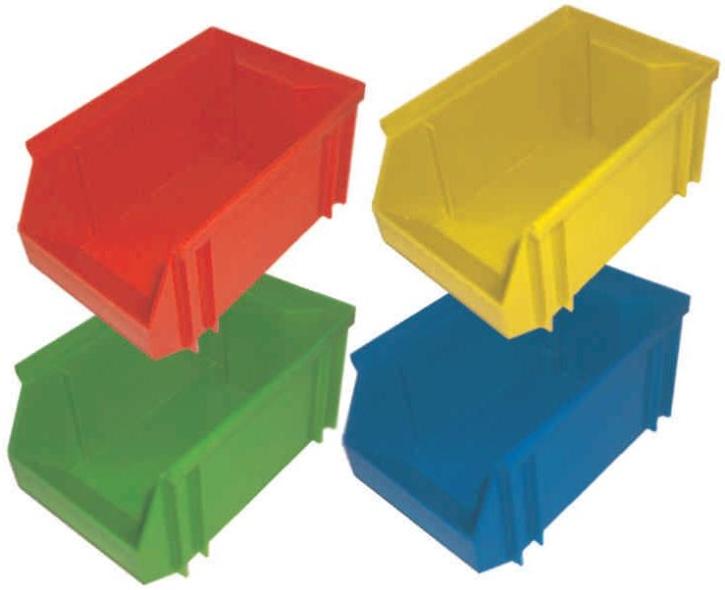 Stapelbox, grün, mittel, 18x12x9 cm