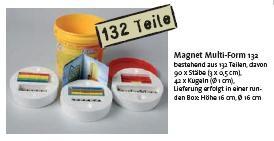 Magnet Multi-Form 132, runde Box mit 132 Teilen