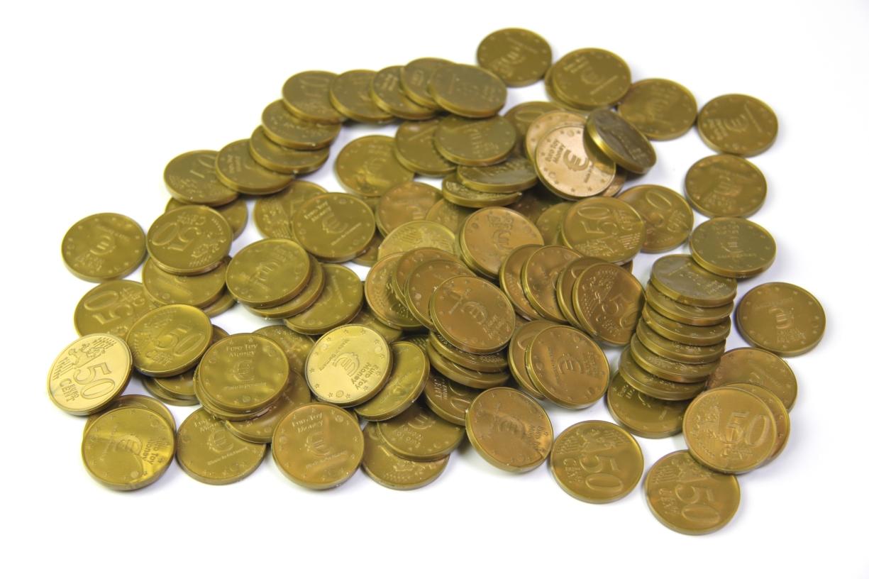 Lehrmittel Euro-Münzen 50 Euro-Cent Cent Rechengeld Originalgröße ...