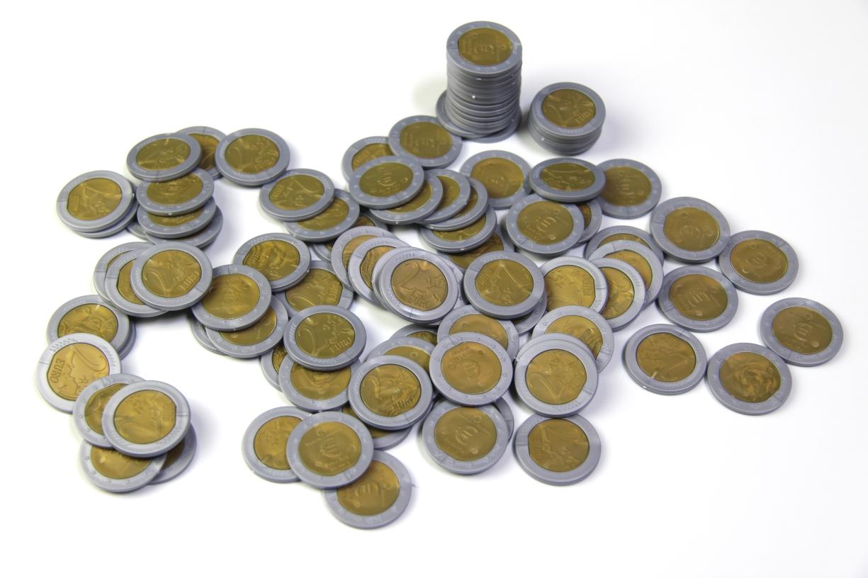 Lehrmittel Euro-Münzen 2 Euro Rechengeld Originalgröße Wissner