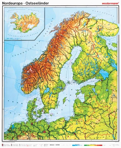 wandkarte westermann europa geografie geographie bundesland freistaat. Black Bedroom Furniture Sets. Home Design Ideas