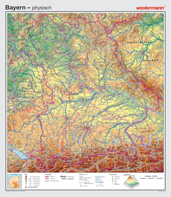 Wandkarte Westermann Deutschland Geografie Geographie Bundesland