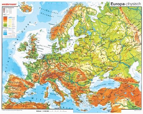 lehrmittel wandkarte westermann europa geografie schulwandkarte. Black Bedroom Furniture Sets. Home Design Ideas
