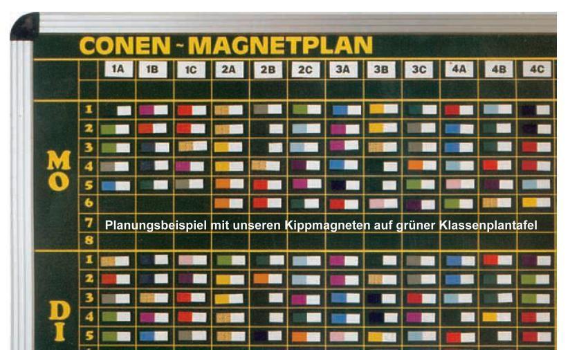 Kippmagnetsatz Magnetsymbol Klassenplantafel Stundenplantafel Magnetplan