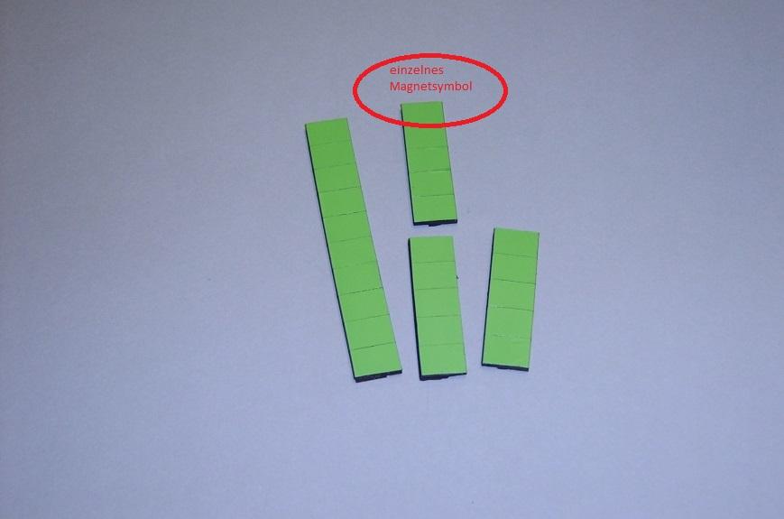 Magnetsymbol für Conen Zusatzpläne, 10x15mm, hellgrün